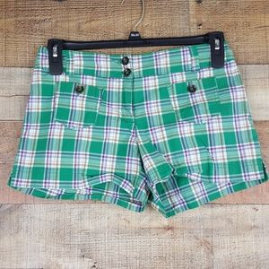 New York & Co. Shorts Women's Size 4 Plaid Multi C